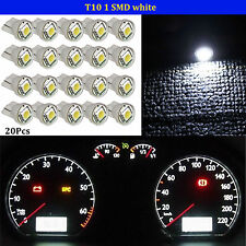 20X T10 W5W Wedge 5050 SMD LED Instrument Panel Light Pure White Dashboard Bulbs