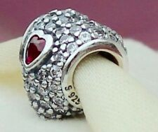 Genuine Pandora Ruby In My Heart Red Cubic Zirconia Charm