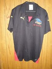 AFL ON FIELD GEAR MENS T-SHIRT ADELAIDE CROWS TOYOTA BLACK RED TRIM SIZE L