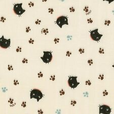 Little Things Kitties Cats Neko Gauze Collection By The Yard Fabric Cosmo