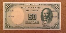 Chile Banknote. 50 Cent/50 Pesos. Dated 1960/61