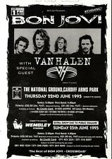 "11/3/95PGN64 BON JOVI & VAN HALEN LIVE TOUR DATES ADVERT 7X5"""