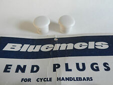 *NOS Vintage Bluemels 1960s/70s handlebar end plugs - (White)*