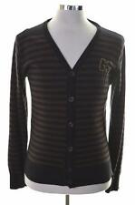 G-Star Mens Cardigan Sweater Medium Black Stripes Cotton