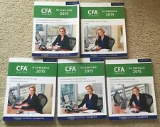 Chartered Financial Analyst 2015 Kaplan Schweser Level One 1 Books 1-5 CFA