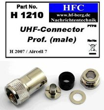 1 Pieza Conector UHF prof. para H 2007 / Aircell 7 Cable coaxial 50 Ω (H1210)