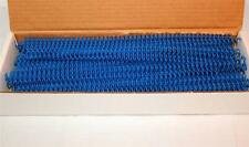 """7 mm Royal Blue Plastic Spiral Coil Binding 12"""" 4:1 Pitch New Box of 100"""