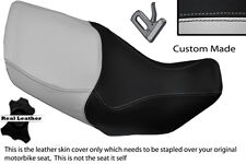 LIGHT GREY & BLACK CUSTOM FITS HONDA XL 1000 V VARADERO 99-07 DUAL SEAT COVER