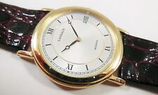 Lassale by Seiko Gold Tone Base Metal 5E29-7040 Calf Sample Watch NON-WORKING