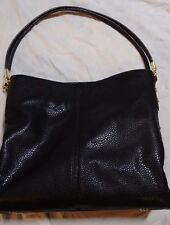 Anne Klein Kick Start 4 Poster Shoulder Bag Black Handbag Purse NEW