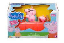 NUOVO Peppa Pig Push E Auto Veicolo con Go MUMMY, DADDY & Peppa Pig & SOUND 18m+