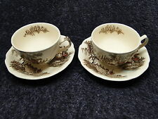 TWO Johnson Brothers The Old Mill Tea Cup Saucer - Multi Available - Excellent!