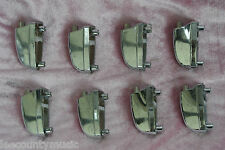 SET of (8) YAMAHA STAGE CUSTOM ADVANTAGE BASS DRUM LARGE CHROME LUGS! #T626