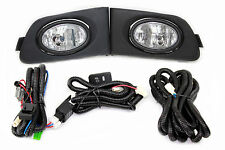 01-03 Honda Civic ES EM 2/4 Door JDM Clear Fog Light Kit + Harness Complete