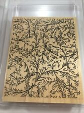 2002 STAMPIN UP Wood Mounted FILIGREE BACKGROUND STAMP RETIRED