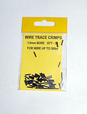 Wire Trace Crimps 1.6mm for up to 50lb pack of 50 - Sea Predator Fishing