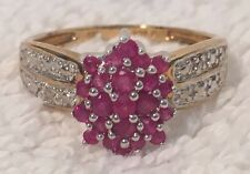 10k Gold Diamond Accent Ring Size 8 2.7 grams Signed NV Fashion Cocktail