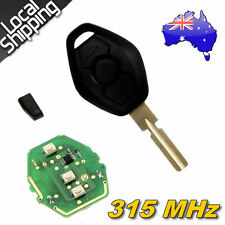 3 Buttons Remote Key+315MHz Transponder Chip for BMW X+E38 E39+3 5 7 Series HU58
