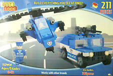 BEST LOCK BLOCKS TOWN POLICE Truck Helicopter Figure Building KIDS TOYS Child 6+