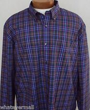 NWT 3X Sport Shirt Saddlebred LS Mens Big and Tall Wrinkle Free Purple New 3XL