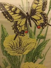 Cash's Woven Pictures - Swallowtail Butterfly and Great Spearwart Flowers