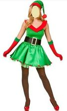New Sexy ladies Christmas Elf Women Fancy Dress Ladies Costume 8-10