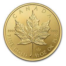 2015 Canada 1/2 oz Gold Maple Leaf Brilliant Uncirculated - SKU #84891