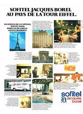 PUBLICITE  1977   SOFITEL   PARIS  groupe Jacques BOREL  hotel