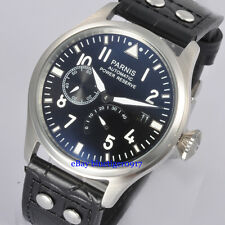 Luxury 47mm Parnis Gents Automatic Watch Men Seagull Power Reserve Wristwatches