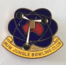 Rum Jungle Bowling Club Badge Northern Territory Atoms Rare Vintage (K6)