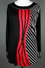 NEW WOMEN  TUNIC BLOUSE size 18/20  TOP  LONG SLEEVE  LADIES  k 3265