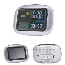 Wireless Weather Station Clock Digital LCD Thermometer Humidity Indoor Outdoor