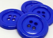 4 GIANT ROYAL BLUE 50mm LARGE PLASTIC CLOWN BUTTONS SEWING AND FANCY DRESS