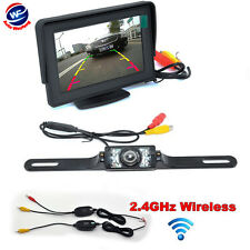 "4.3"" TFT LCD Monitor Rear View System Wireless Backup Reverse Camera NightVision"