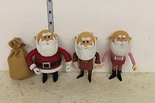 Rudolph the Red Nose Reindeer Set of 3 Santa's Loose Figures