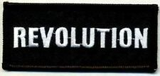 REVOLUTION Government Funny Embroidered Motorcycle MC Biker Vest Patch PAT-1528
