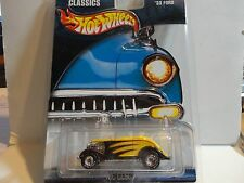 Hot Wheels Motor City Classics Yellow '33 Ford w/Real Riders