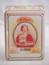 Vintage Advertising Ads Kellogg's All Bran Cereal Litho Tin Can 1991 Container