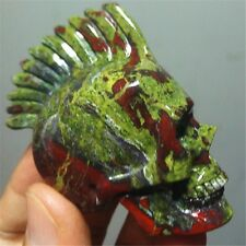 159 Natural Dragon Blood Stone Jasper Crystal Skull 11751