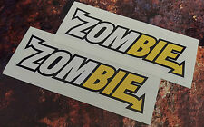 2 ZOMBIE SUBWAY STYLE Funny Car/Window JDM VW Vinyl Decal Stickers