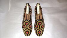 SO CUTE! $450 Stubbs and Wootton Needlepoint & Leather Slippers Loafers Shoes