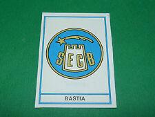 BADGE SEC BASTIA SECB FURIANI CORSICA RECUPERATION PANINI FOOTBALL 76 1975-1976