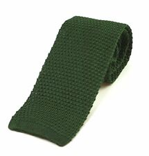 Men's Plain Forest Green Silk Knitted Tie (N997/13)