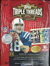 2006 Triple Threads Factory Sealed Football Hobby Box  Jay Cutler Auto RC ??