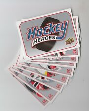 (62953) 2009-10 UPPER DECK HOCKEY HEROES MARTIN BRODEUR HH10 to 17 + HEADER