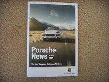Porsche News Winter 2014 Sales Brochure Literature Information 20 pages booklet