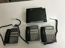 NEC DSX40 PHONE SYSTEM  with 3 phones