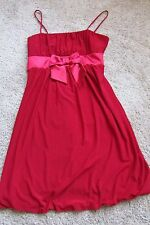 Taboo Red Poly & Spandex Spaghetti Strap Holiday Cocktail Dress Sz M NWT $39.99