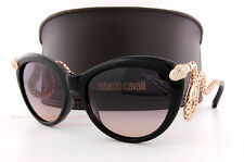 Brand New Roberto Cavalli Sunglasses RC 889S 01B Black Gold/Smoke For Women