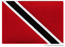 TRINIDAD TOBAGO NATIONAL FLAG PATCH CARIBBEAN iron-on EMBROIDERED SOUVENIR